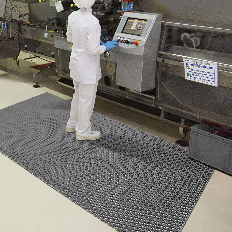 Grau Hygienematte Z-Mat f/ür Nassbereiche und Arbeitspl/ätze stark rutschhemmend 120x250 cm viele Gr/ö/ßen