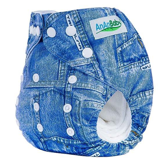 Pañal de Bebé Recién Nacido Niños Niñas de Tela Calzones de Entrenamiento Diseño Cartoon Lavable Reutilizable Ajustable ?0-4 años?: Amazon.es: Bebé