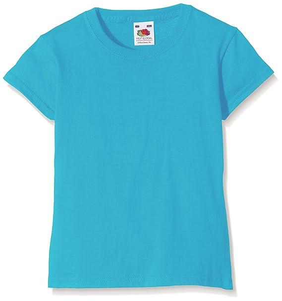 Fruit of the Loom SS079B Camiseta de manga corta para niña azul Azure Blue. Pasa ...