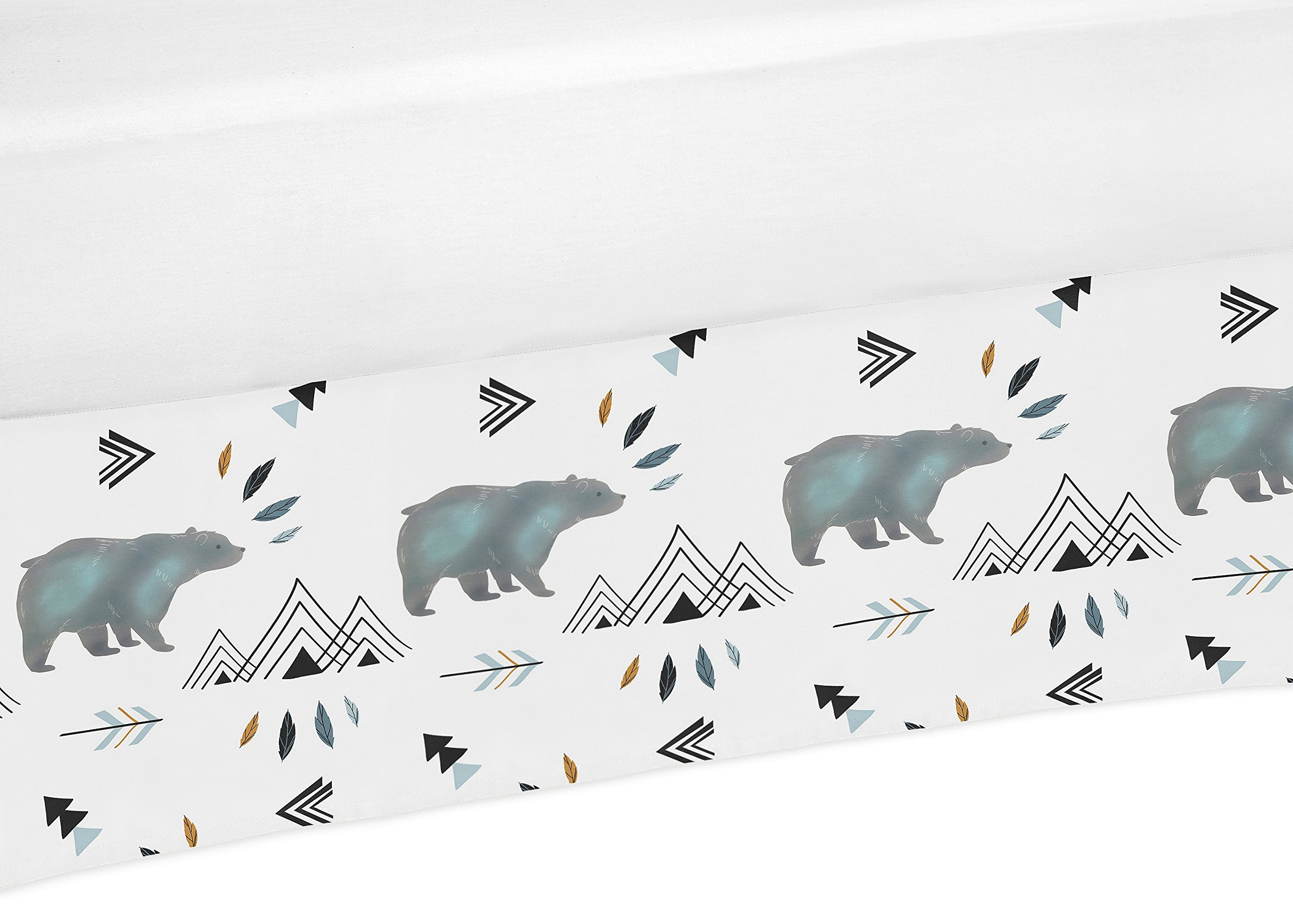 Sweet Jojo Designs Baby Boy Crib Bed Skirt Dust Ruffle for Bear Mountain Watercolor Collection by Sweet Jojo Designs