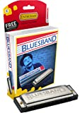 Hohner BluesBand M55901X - Armónica diatónica en Do (20 voces, Blues), color plata