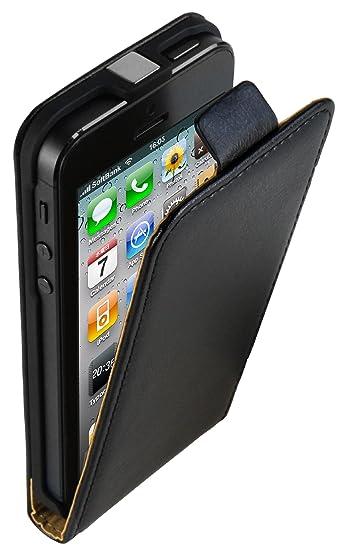 mumbi PREMIUM Leder Flip Case für iPhone SE 5 5s Ledertasche Hülle