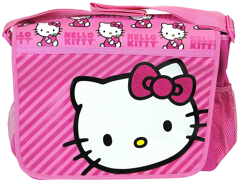0cbf4bb0dab5 Hello Kitty Pink Sparkle Messenger Bag  Amazon.co.uk  Toys   Games