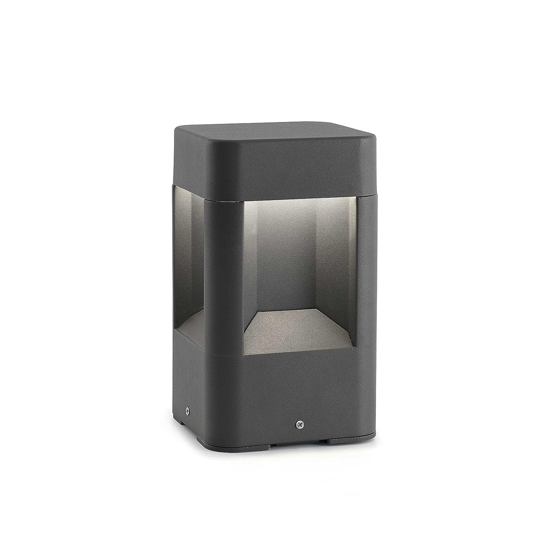 bombilla incluida LED color gris cuerpo de aluminio y difusor de pc Faro Barcelona Naya 71198 Sobremuro 6W
