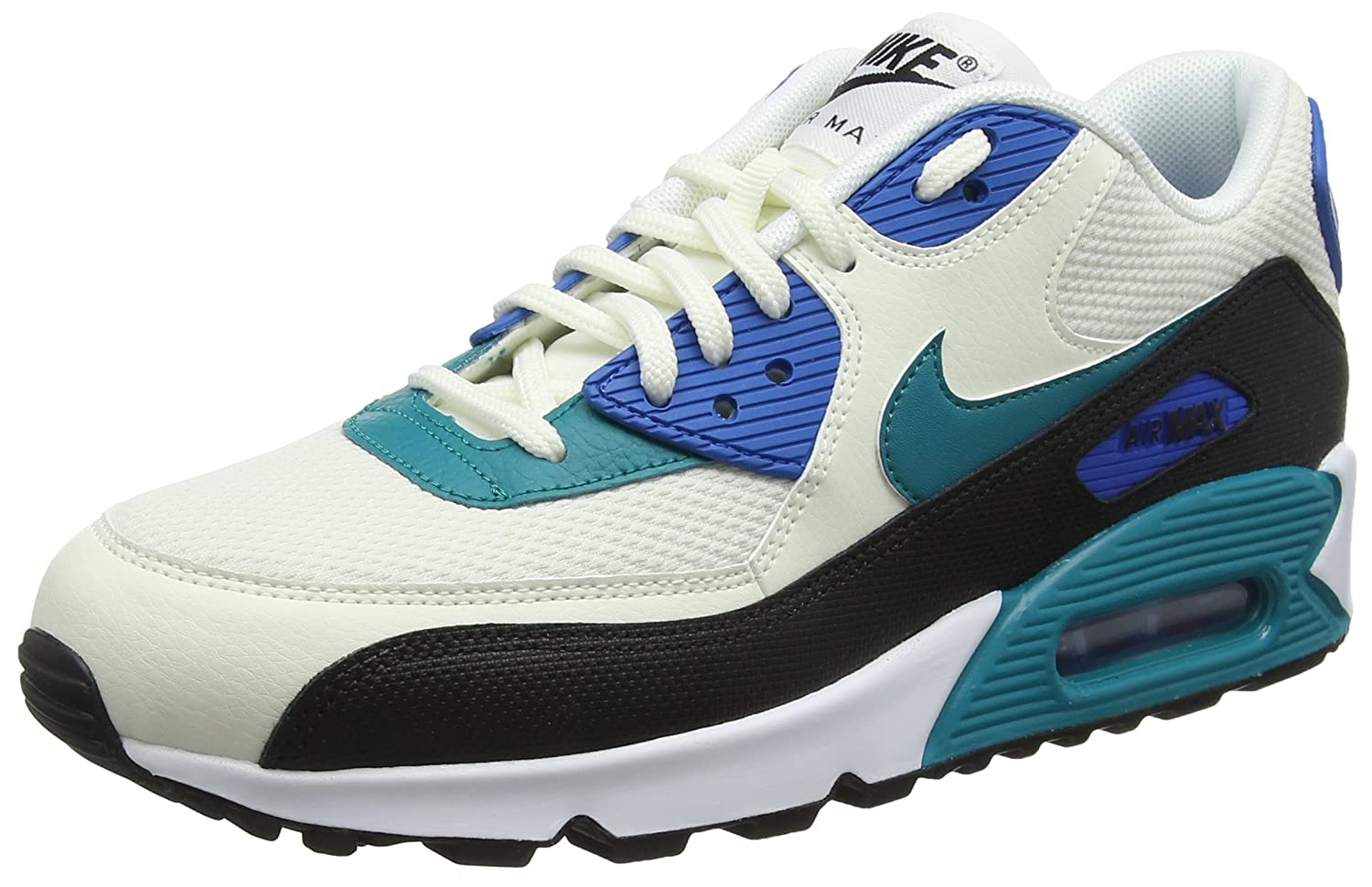 Nike Damen Wmns Air Max 90 Sneakers Weiß(Sail/Radiant Emerald/Nero/Blu 134)