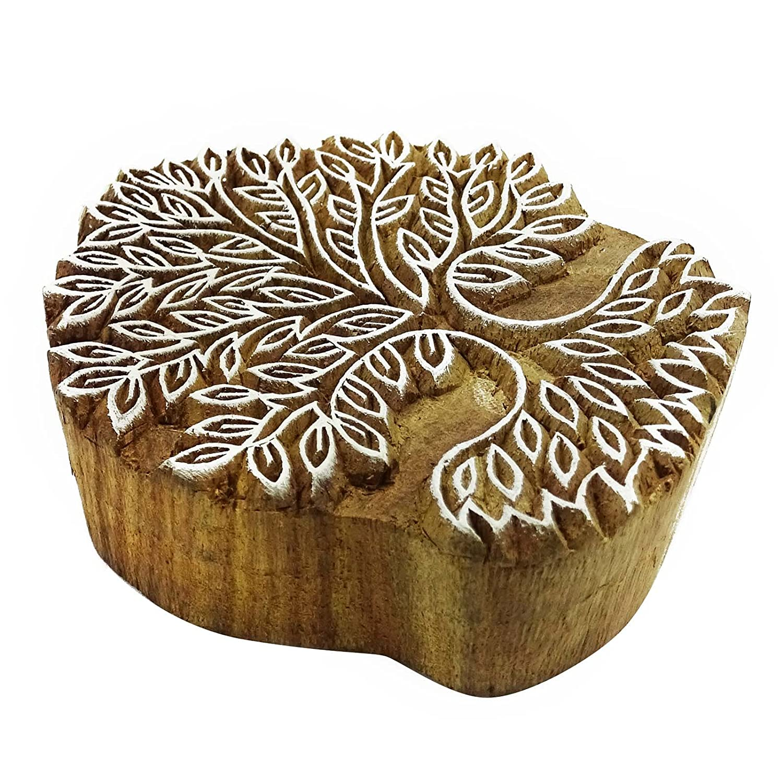 Holzdrucktype-Baum-Kunst-Hand geschnitzte Keramik Drucker Indische Stempel