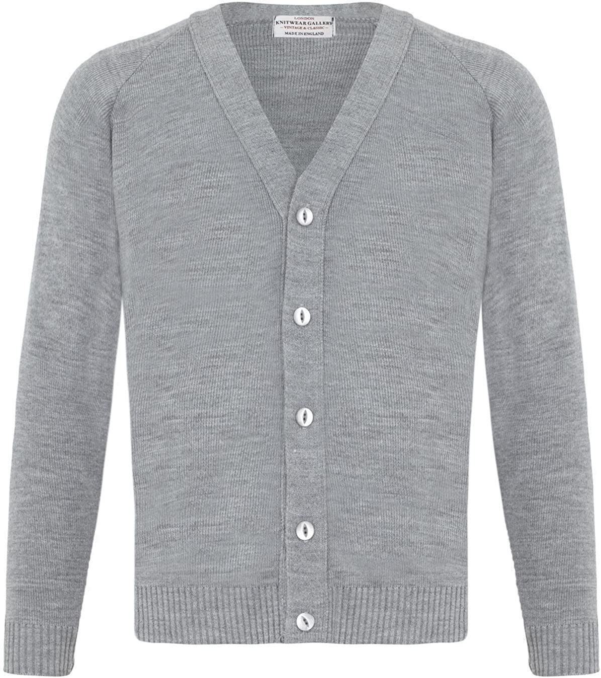 London Knitwear Gallery Mens Knitwear Casual Button Cardigan Vintage