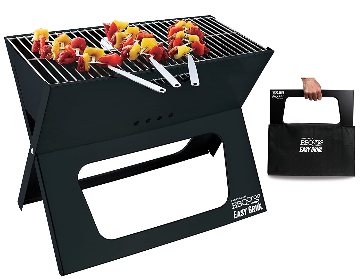 Portable BBQ Croc Easy Grill - Premium Foldable Charcoal Barbecue Very Large Grilling Surface CROC TOOLS Inc. 89930