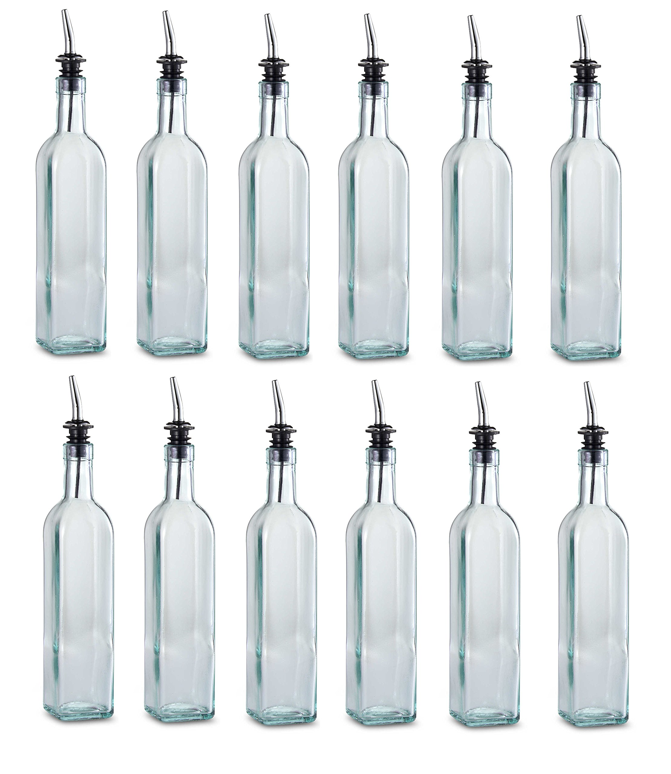 TableCraft 16 oz. Olive Oil Bottle with Pourer Made in USA (Set of 12) Brand New and Fast Shipping by Tablecraft