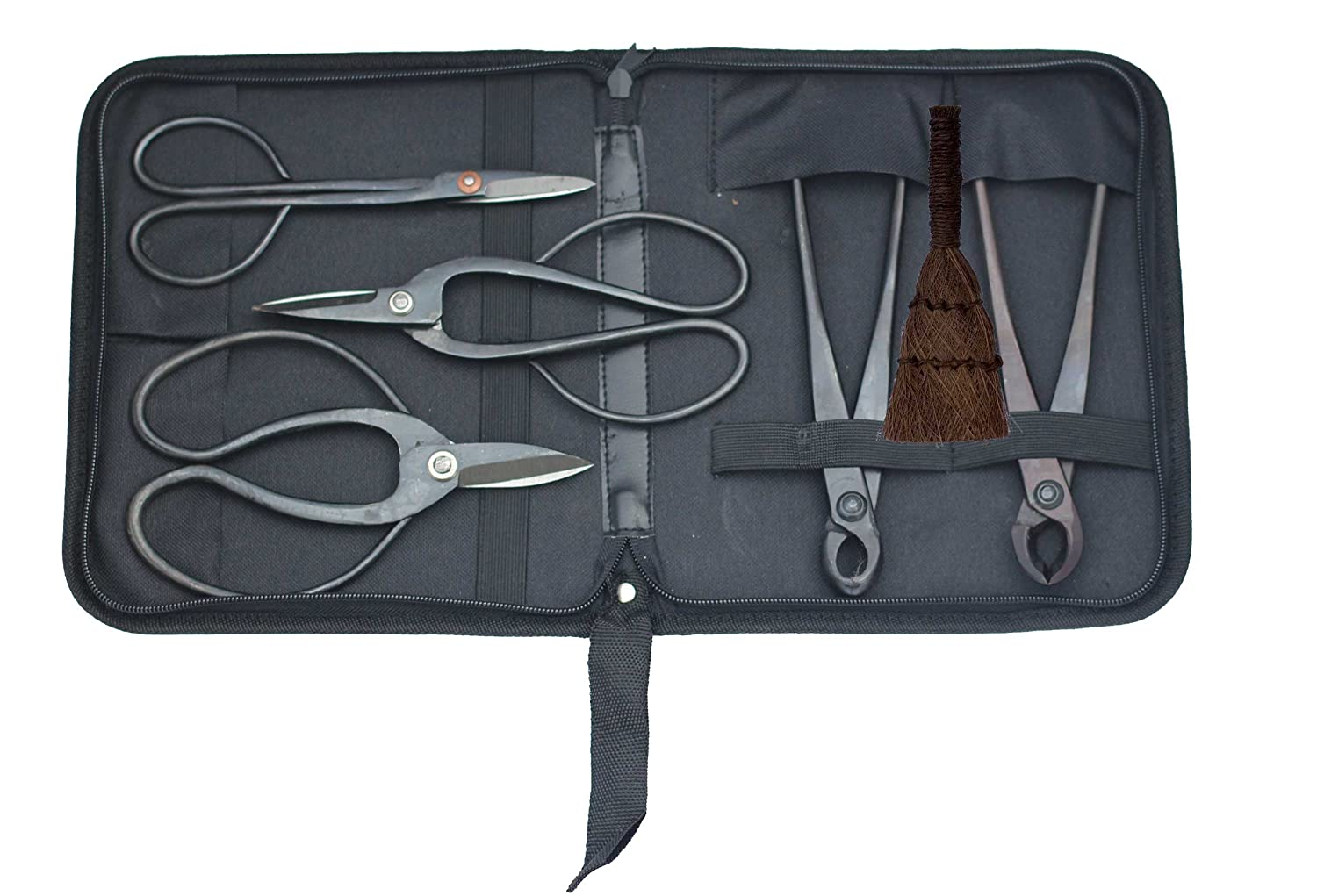 6 Piece Bonsai Tree Tool Kit / Set with Case