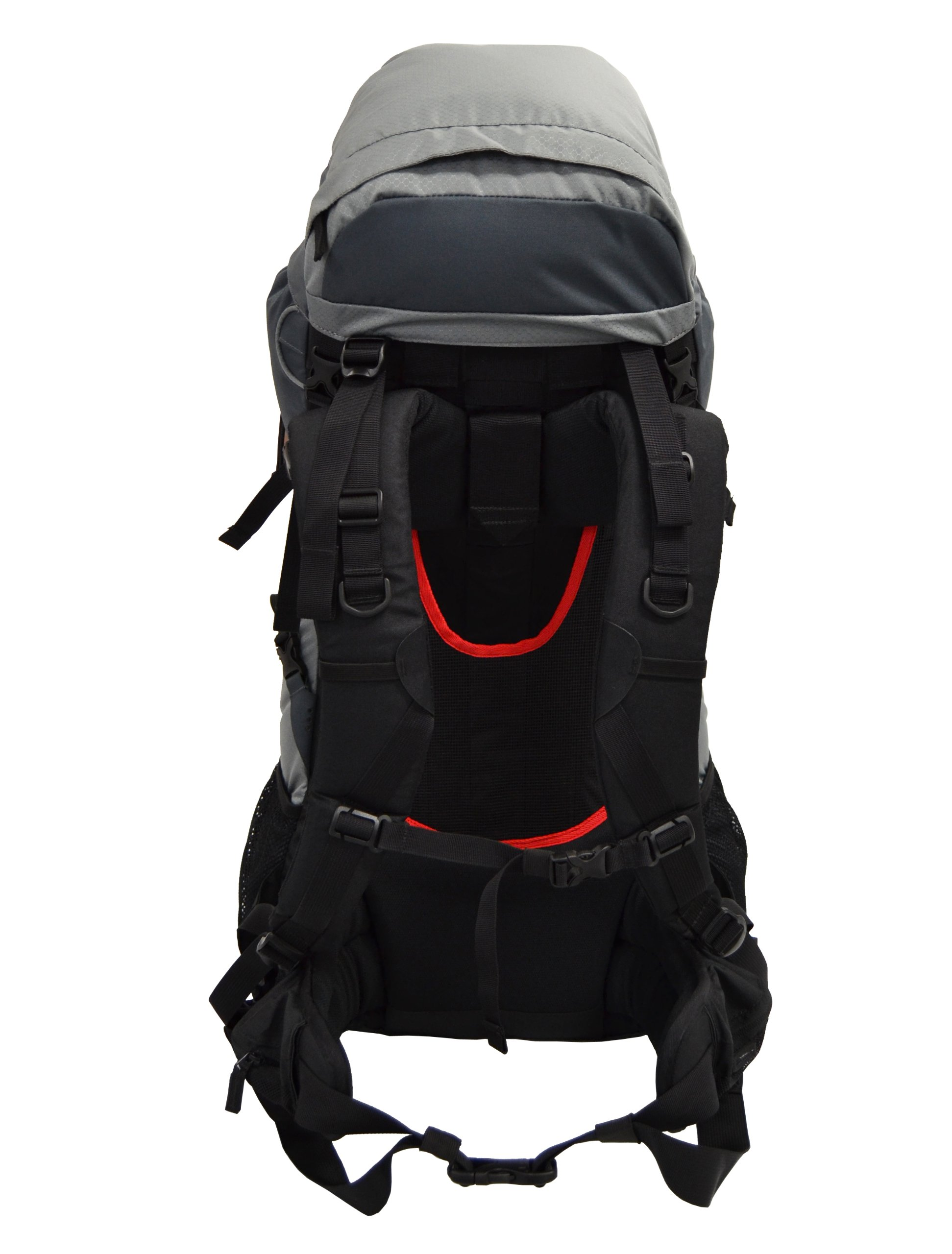 Guerrilla Packs Roundhouse Internal Frame Backpack, Middle Grey/Dark Grey by Guerrilla Packs (Image #4)