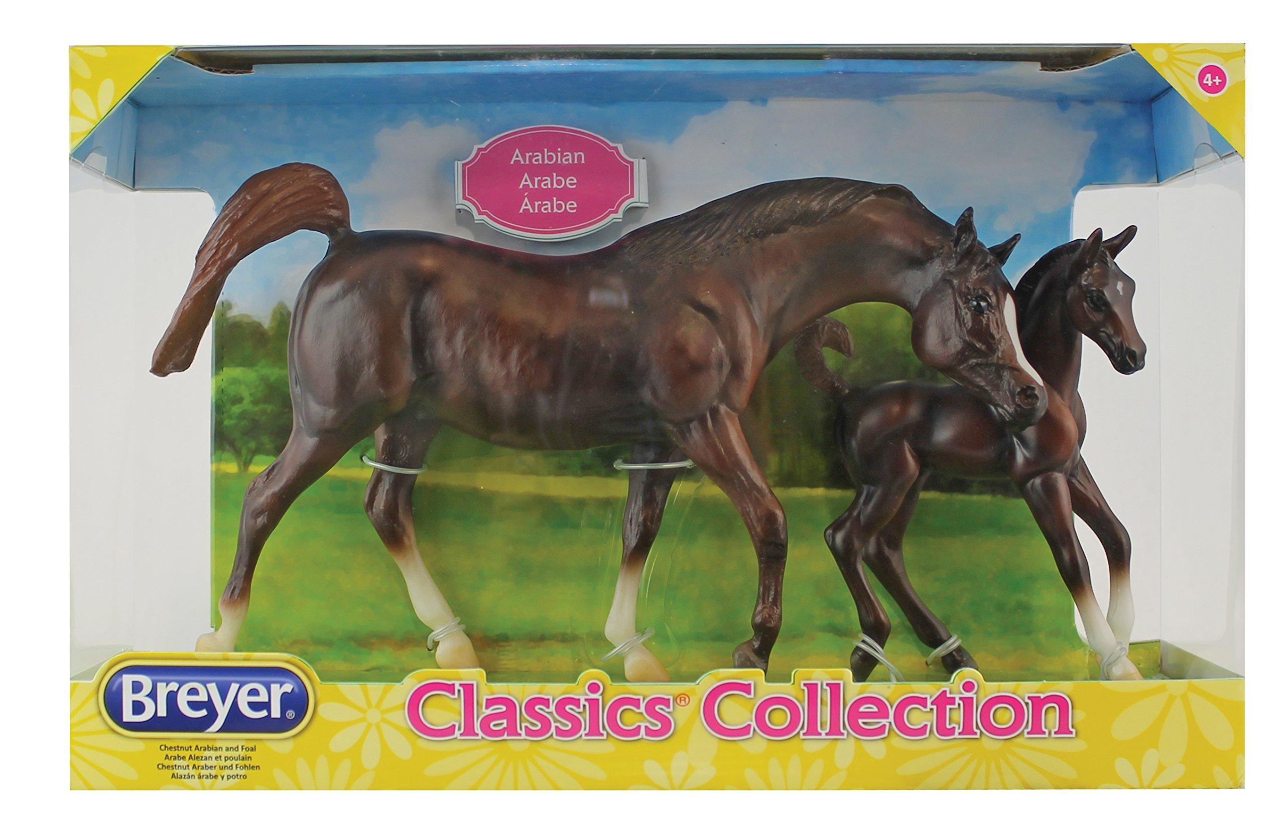 Dolls - Breyer Classics Chestnut Arabian Horse & Foal Toy ... - photo#16