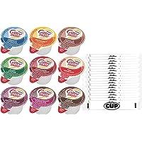 Coffee Mate .375oz Non-Dairy Liquid Creamer Singles - 9 Flavor Assortment, Hazelnut, French Vanilla, Original, Mocha…