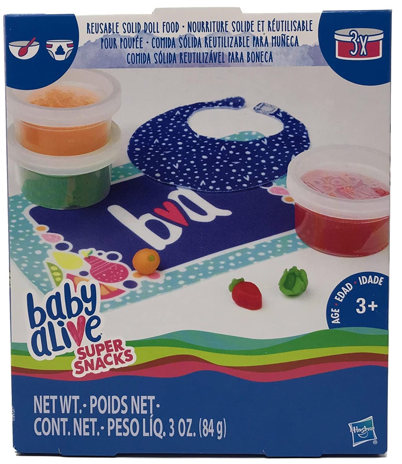 Amazon.com: Baby Alive Reusable Solid Doll Food & 6 Diapers Accessory Set: Toys & Games