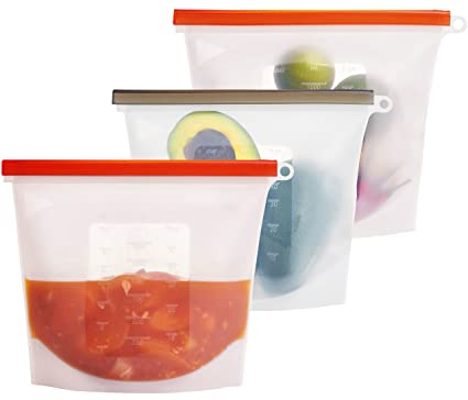 [ LARGE SIZE ] Reusable Silicone Food Grade Storage Bag u2013 Versatile Bags for Freezing Raw  sc 1 st  Amazon.com & Amazon.com - [ LARGE SIZE ] Reusable Silicone Food Grade Storage Bag ...
