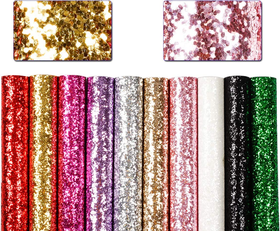 Faux Leather Sheet Chunky Glitter Sheet diy earrings Canvas Craft Sheet DIY Supplies for Bows IMPERFECT White Ice Glitter Canvas Sheet