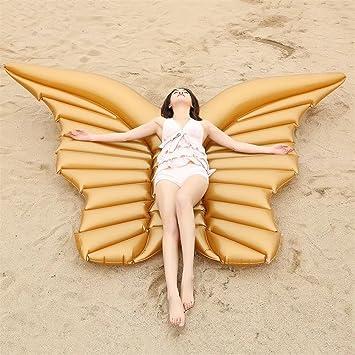 Flotador inflable de la mariposa del ala del ángel con la fiesta de la piscina al ...