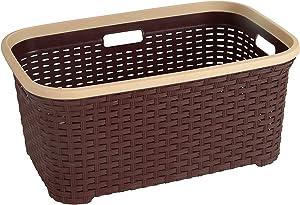 Rattan (Wicker Style) 1.4 Bushel Laundry Basket (Brown)