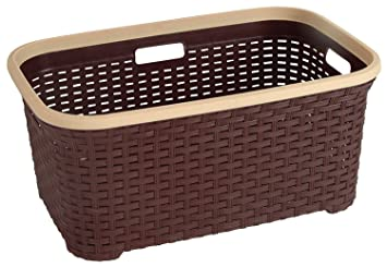 Buy Rattan Wicker Style 1 4 Bushel Laundry Basket Brown By Superio Online At Low Prices In India Amazon In