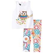 52282fcf20b Mud Pie Baby-Girls Newborn Owl Tunic and Legging Set