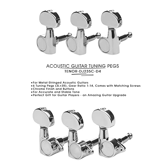 Amazon Com Dj235c D4 Tenor Acoustic Guitar Tuners Tuning Key Pegs