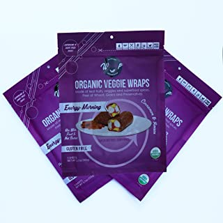 product image for Wrawp Organic Veggie Wraps -Mini Raw Vegan Energizing Morning Flat Bread (3 pack) Perfect for Wraps, Sandwiches, Crackers, Side Bread or a Simple Snack