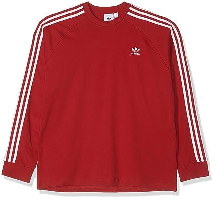 30747e6e adidas Men's 3-stripes Long Sleeve Sweatshirt: Amazon.co.uk: Clothing