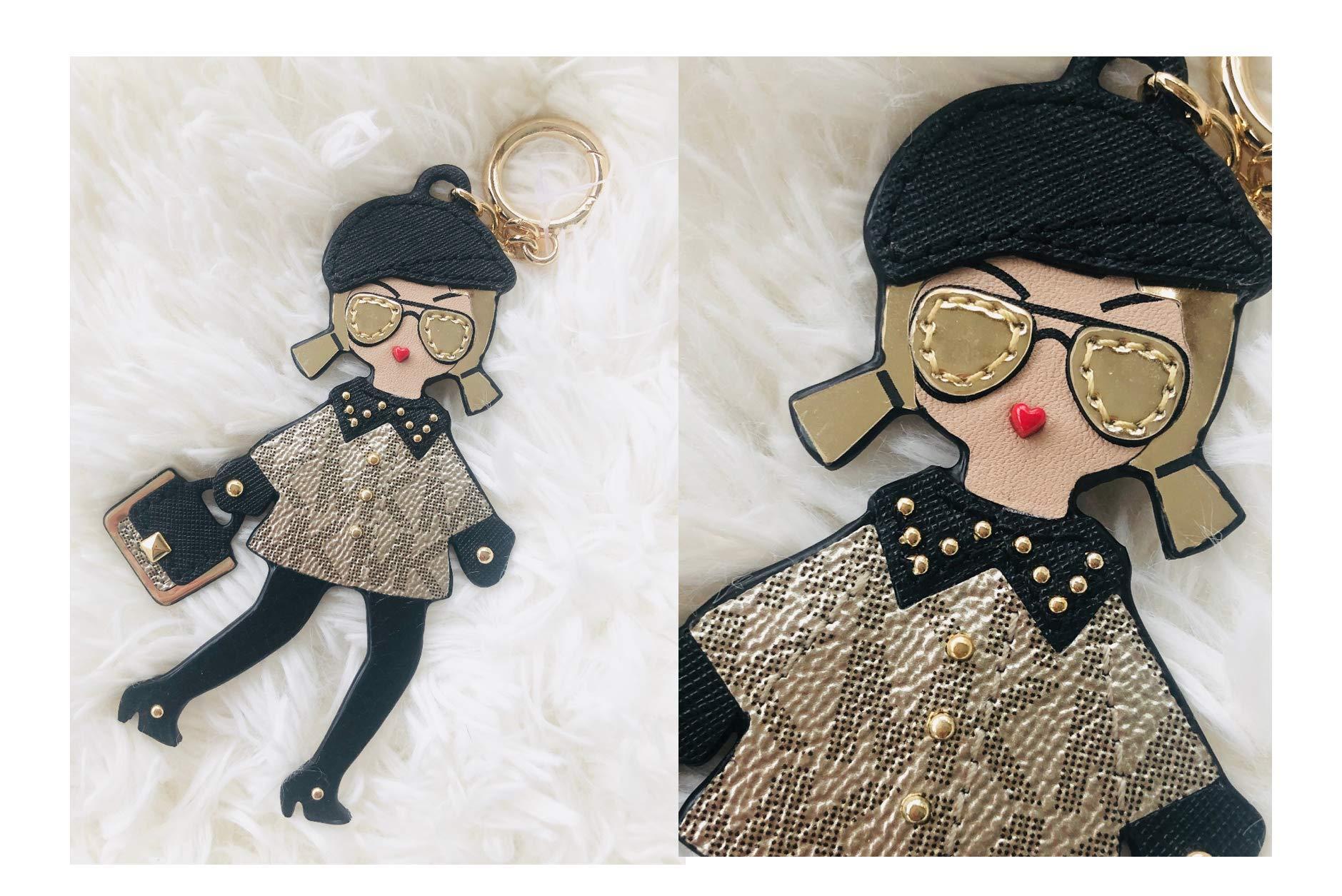 Michael Kors Girl Keychain Key Fob Bag Charm