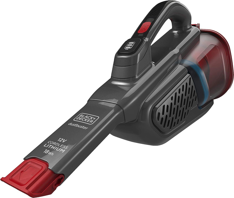 Black & Decker BHHV315B-QW Aspiradora Color Rojo/Titanio, 12V (18Wh)