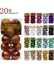 KI Store Christmas Ball Ornaments Shatterproof Christmas Decorations Tree Balls Pastel for Holiday Wedding Party Decoration Tree Ornaments Hooks Included