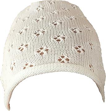 50 56 62 68 74 80 Mädchen Taufmütze Mütze Strickmütze Taufe weiß o ivory Gr