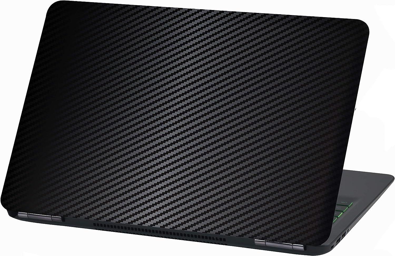 Noir carbone 17 Motif abstrait Film autocollant pour ordinateur portable