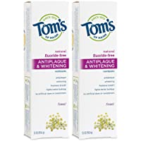 Tom's of Maine Fluoride-Free Antiplaque & Whitening Toothpaste, Natural Toothpaste...