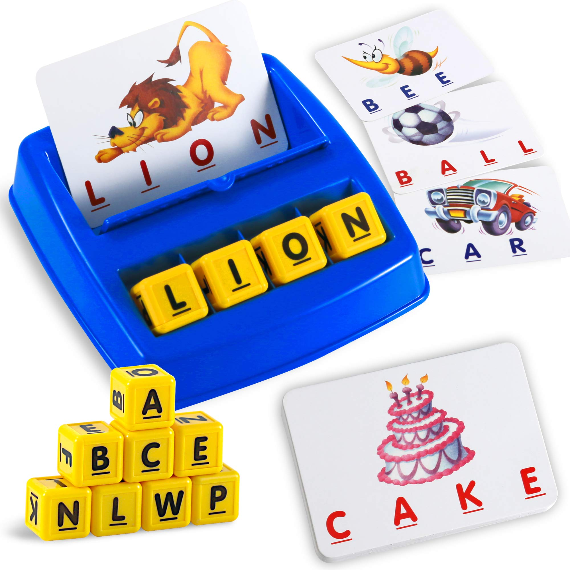 Matching Letter Game Alphabet Spelling & Reading Words Objects & Number &