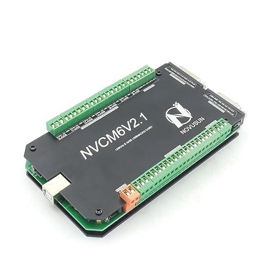 6 Axis 125KHz NVCM USB Mach3 Stepper Motor Motion Control Card breakout  board usb interface CNC Controller Board 12-32VDC for Servo Motor