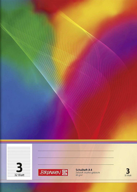 Brunnen 104430302 Schulheft A4 (32 Blatt, liniert, Lineatur 3, Klasse 3)