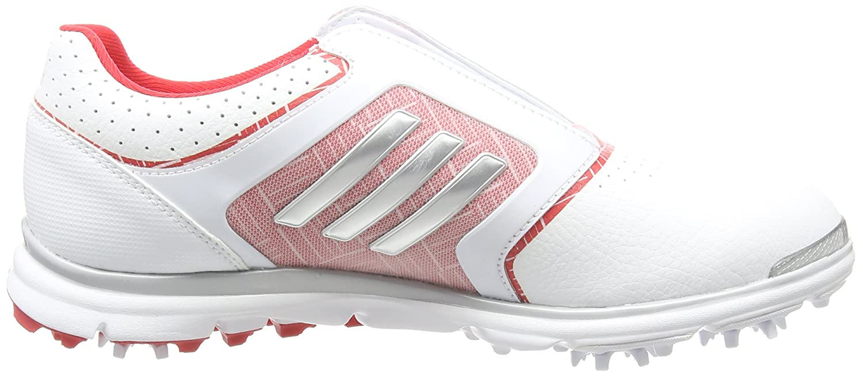 adidas Damen Adistar Tour B Golfschuhe, Weiß (White/Matte Silver/Ray Red), 36 2/3 EU