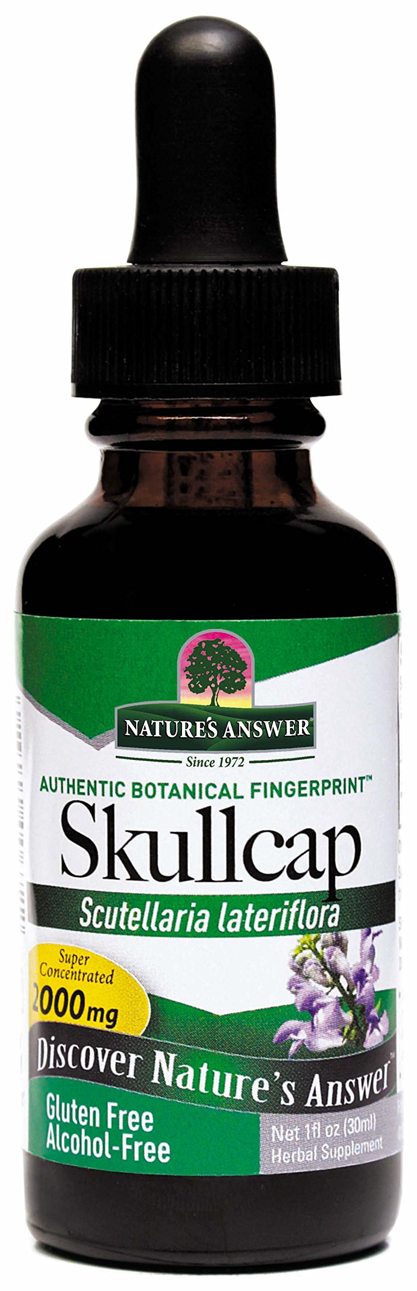Nature's Answer Alcohol-Free Skullcap Herb, 1-Fluid Ounce