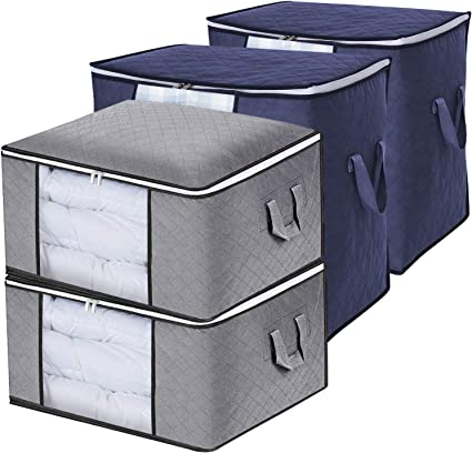 Reißverschluss-Box Groß Aufbewahrungstasche Bettdecken Aufbewahrungstasche
