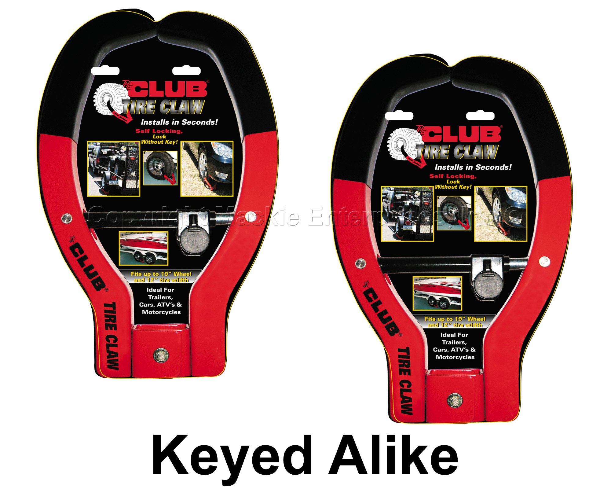 Tire Claw XL Lock - ATV, Auto, Trailer Locks #491KA-2