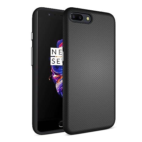 Funda OnePlus 5 Funda JGOO OnePlus 5 carcasa Case [Absorción de impactos][Anti-deslizante][Protección Contra Caídas] Combinación TPU Suave Bumper y PC ...