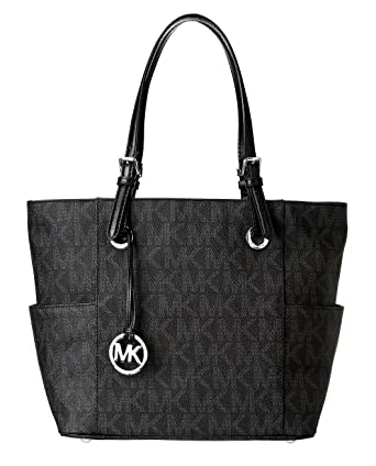 Michael Kors Signature Logo Tote in Black