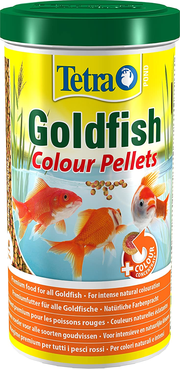 Tetra Pond Goldfish Colour Pellets, Premium Food for All Goldfish for Intense Natural Colouration, 1 Litre Spectrum Brands T707118