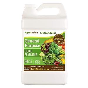 AgroThrive Organic Fertilizer - 3-3-2 General Purpose (1 gal)