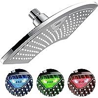 Dream Spa 1489 AquaFan Cabezal de ducha de 12 pulgadas, todo chapado en cromo, con visualización de temperatura LED/LCD que cambia de color, 12 pulgadas