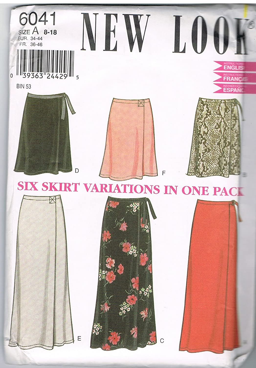 New Look Skirt Pattern by New Look   B00DL7H7QO