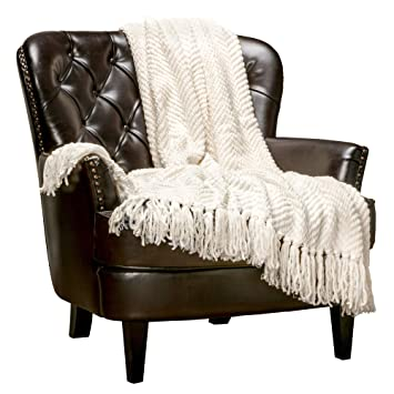 Peachy Chanasya Textured Knitted Super Soft Throw Blanket With Tassels Warm Cozy Lightweight Fluffy Woven Blanket For Bed Sofa Chair Couch Cover Living Bed Pdpeps Interior Chair Design Pdpepsorg