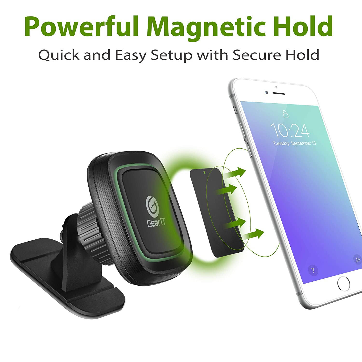 Galaxy S9//S8//S7//Note9//Note8 Universal Dashboard Magnetic Car Phone Mount with 3M Adhesive for iPhone Xs MAX//XS//XR//X//8//7//7P//6s Huawei Smartphones 4350466783 GearIT Cell Phone Holder for Car Pixel 3 XL//2