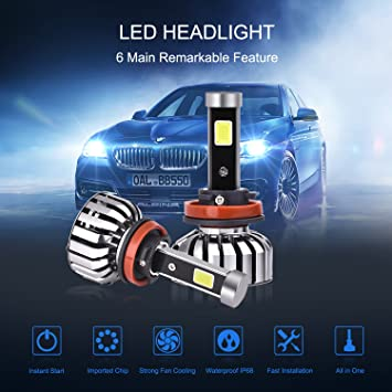 Cree 9007 HB5 200W 20000LM LED Headlights Kit Hi//Lo Power Bulbs 6000K White