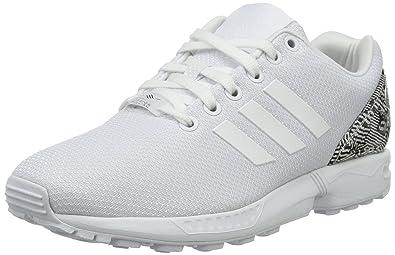 adidas Originals ZX Flux Damen Sneaker, Elfenbein (Ftwwht Ftwwht Cblack), 1beee39d78
